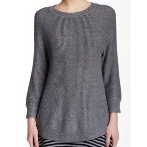 J. Crew Curved Hem Wool-Blend Sweater
